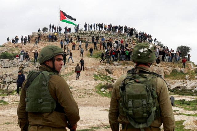 Палестинці протестують проти ізраїльської окупації Західного берега річки Йордан