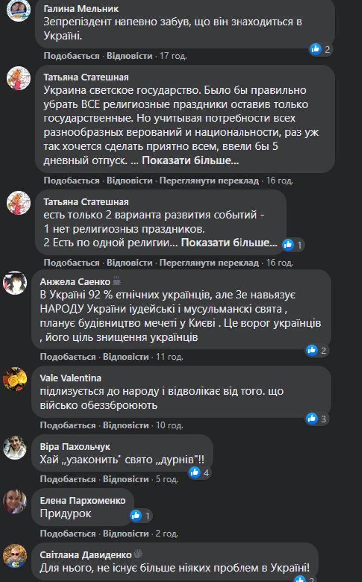 Реакція користувачів Facebook на указ №303/2020