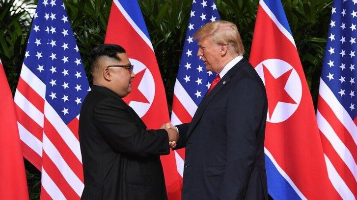 Дональд Трамп і Кім Чен Ин