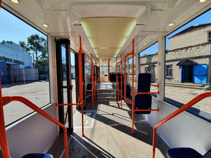 Новий запорізький трамвай (внутрішній вигляд)