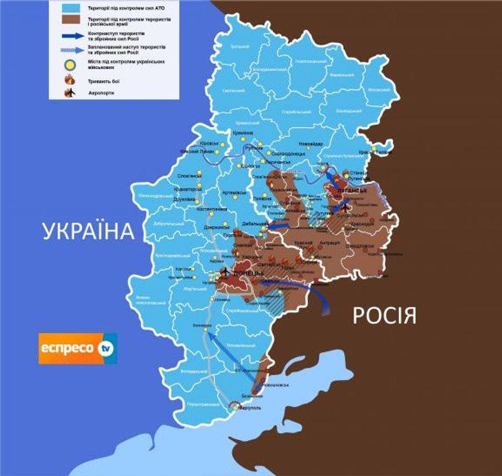 Ситуація на Сході України у ніч проти 25.08.2014 р.