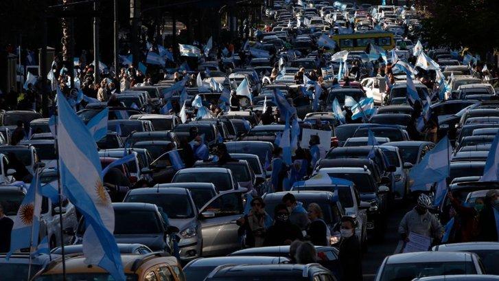 Протестувальники у середмісті Буенос-Айреса