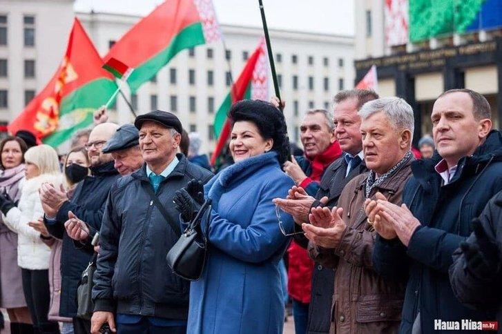Прихильники Лукашенка відзначили річницю більшовицького перевороту_2