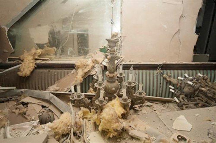 Наслідки вибуху газового балону в елітному Київському ресторані