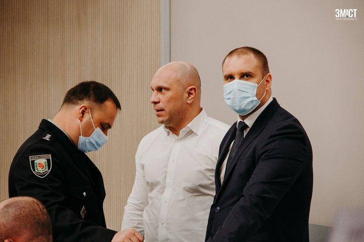 Олег Синєгубов, Ілля Кива та Іван Вигівський під час першої сесії Полтавської облради