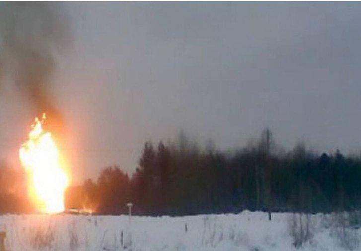 Вибух газогону біля села Глафирівка на окупованій частині Луганської області (15.01.2021)