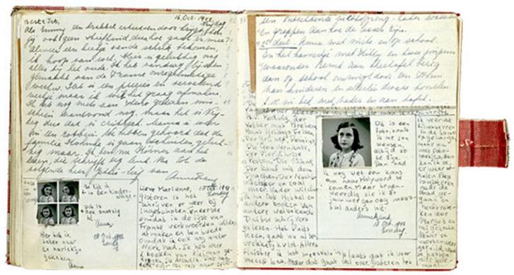 Сторінки щоденника, на кожній з яких – різні види почерків