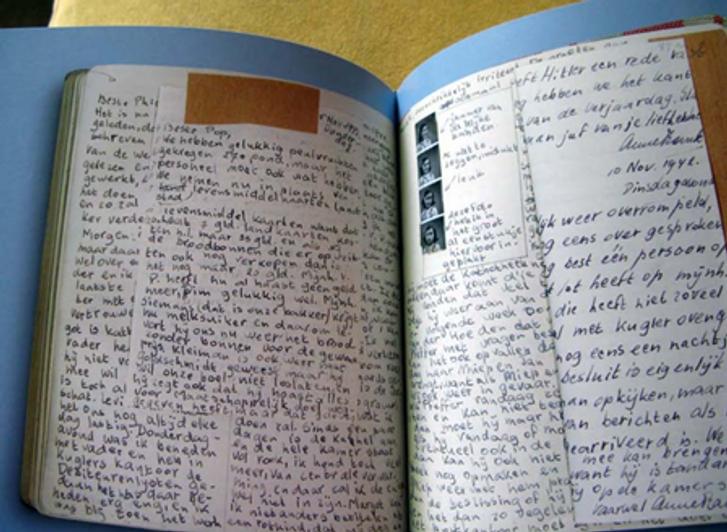 На правій сторінці почерки  і з лівим і з правим нахилом