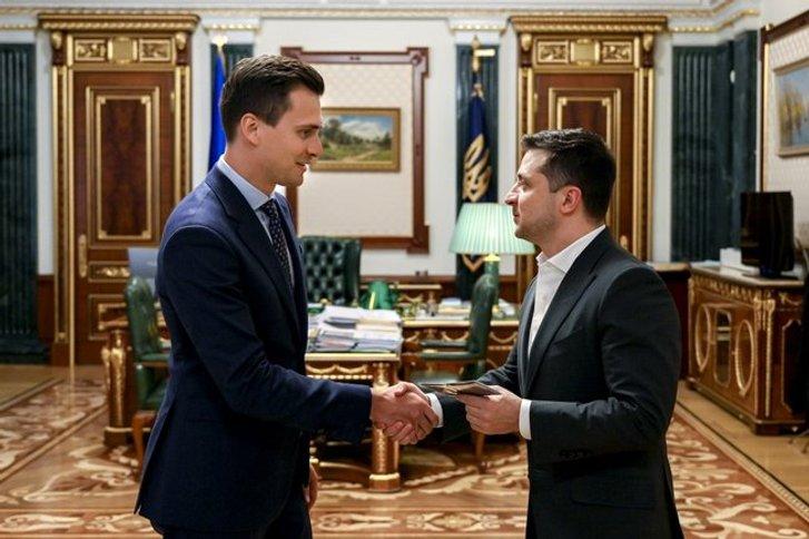 О. Скічко і В. Зеленський в Офісі президента