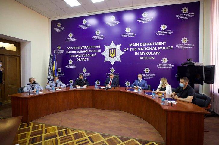 А. Аваков представляє нове керівництво ГУ НП у Миколаївській області