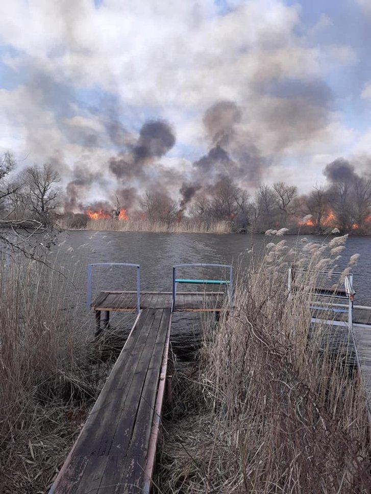 Прийшла весна і на Херсонщині запалали плавні_1