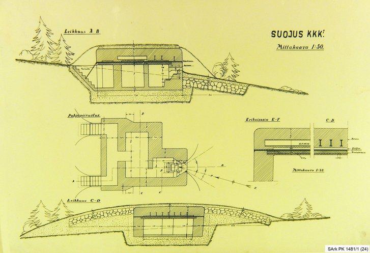 Схема одного з перших ДОТів