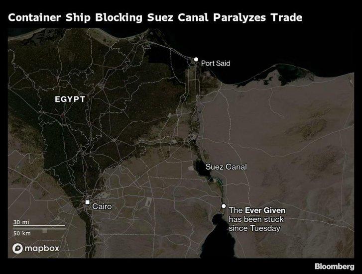 «Затор» у Суецькому каналі призвів до здорожчання нафти_1