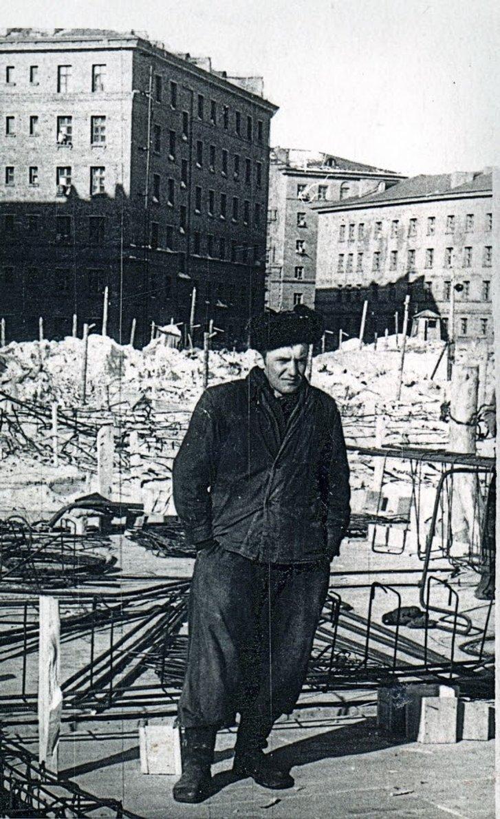 Михайло Баканчук під час заслання в Норильську, 1956 рік.