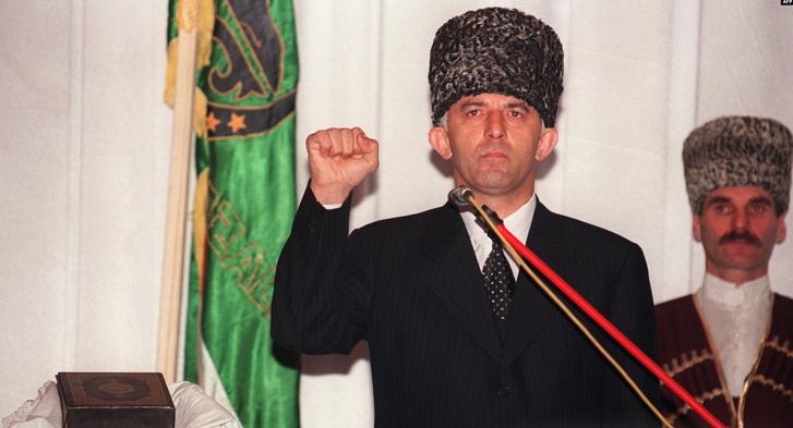 Інавгурація Аслана Масхадова в Грозному, 1997 рік
