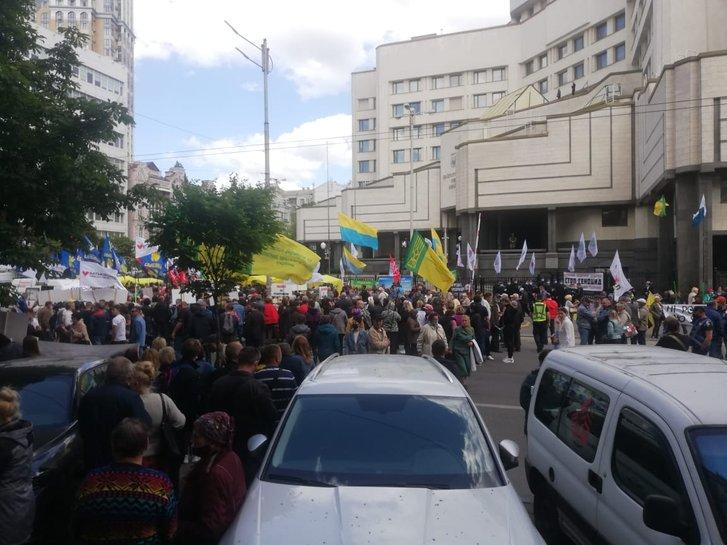 Акція протесту проти продажу землі