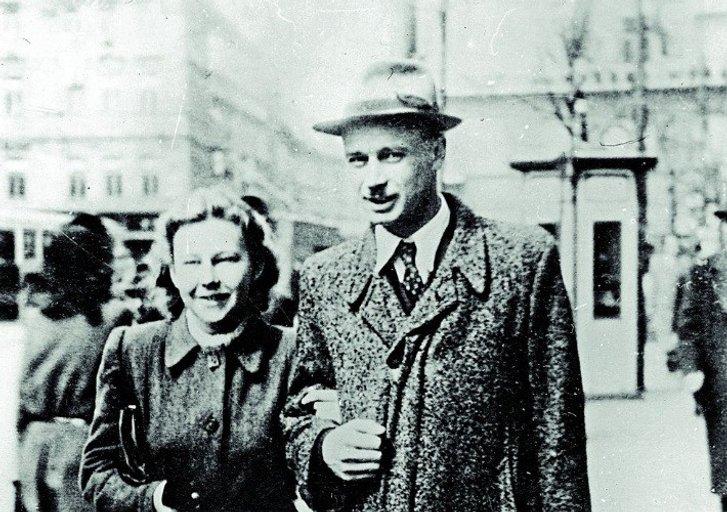 Олег Ольжич з дружиною на еміґрації (1930-ті роки)