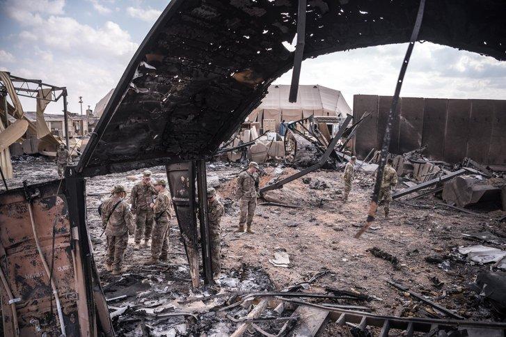 Летовище іракського міста Ербіль (після теракту)