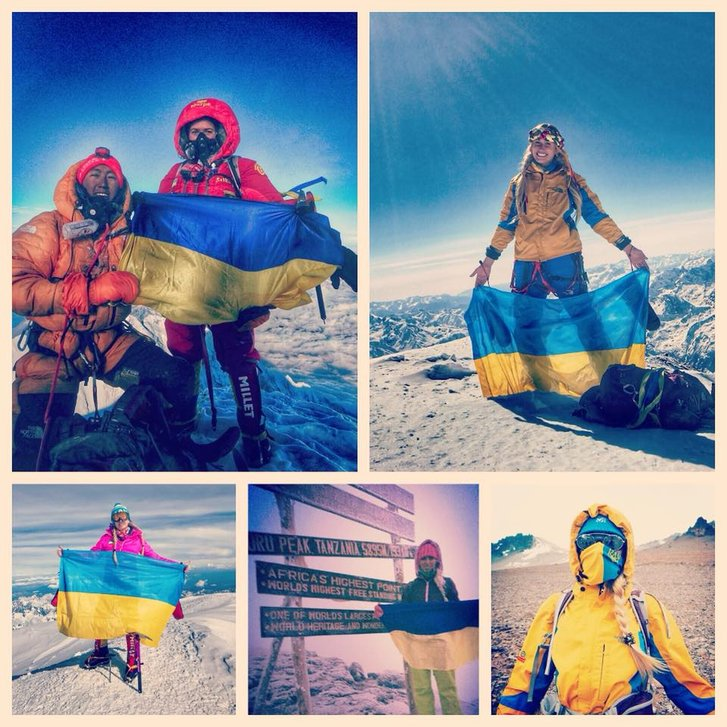 До 30-річчя Незалежності вродлива білявка Ірина Галай піднялася на найнебезпечнішу гору у світі_5