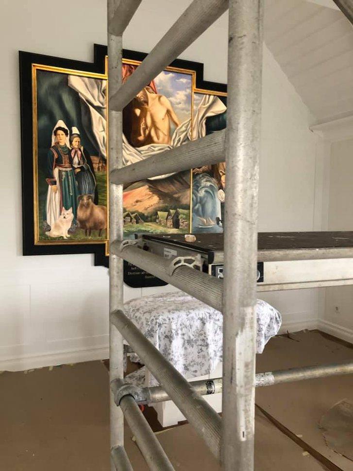 Український художник оздобив в Ісландії церкву_1