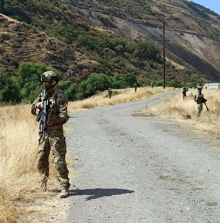 Азербайджанські та турецькі вояки на кордоні з Вірменією (Лачинський коридор, 7.09.2021)