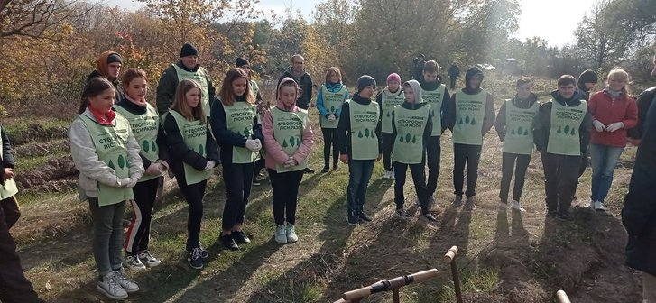Діти висадили молодий ліс у Миргородському районі_1