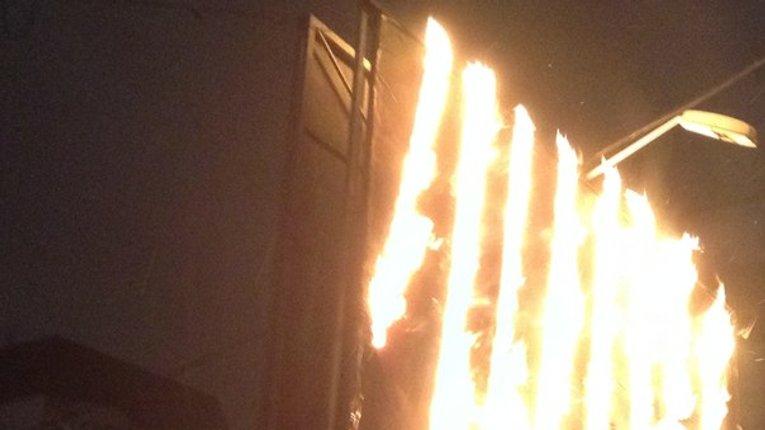 На Полтавщині спалили біг-борд
