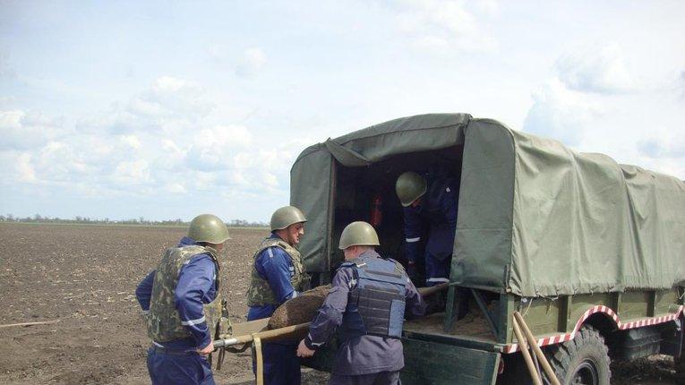 У Чутівському районі виявили фугасну авіабомбу та три мінометні міни часів Великої Вітчизняної війни