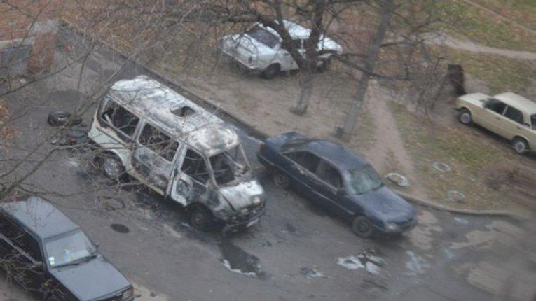 В Полтаві спалили два автомобілі