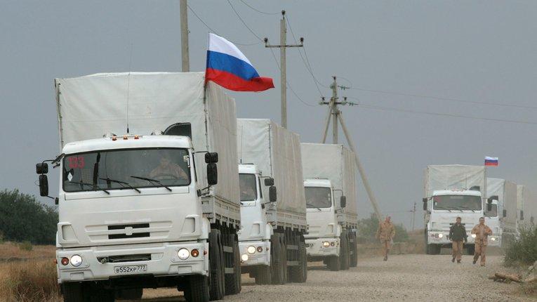 Частина сьомого «гумконвою» Путіна вирушила до українського кордону