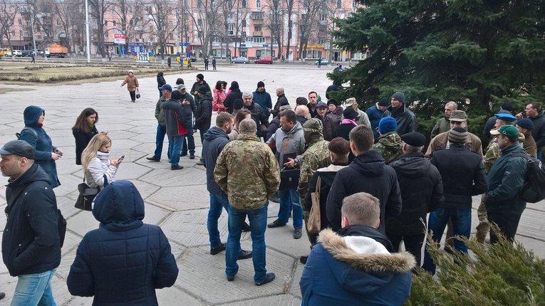 Прихильники блокади Донбасу вимагають скликати позачергову сесію облради