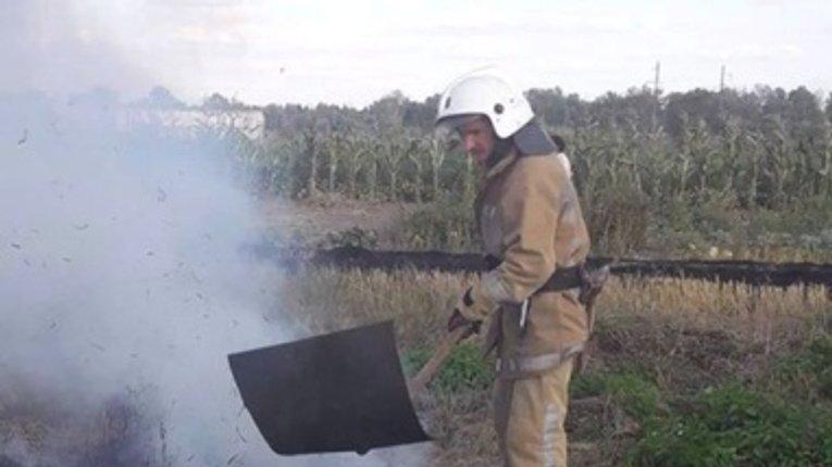 Упродовж минулої доби полтавські вогнеборці ліквідували десять пожеж на відкритій території
