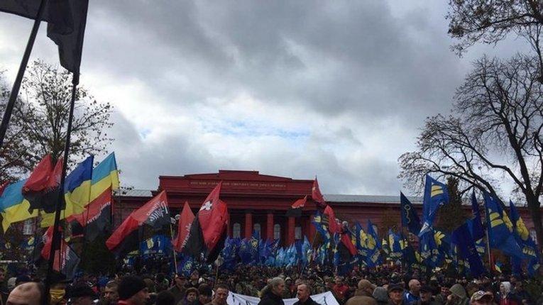 Об'єднані націоналістичні сили анонсували масштабну акцію проти реалізації Мінських домовленостей та продажу землі іноземцям