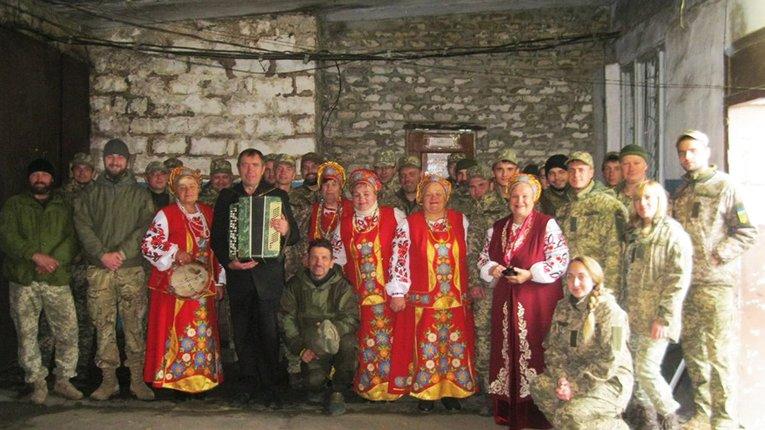 Музики з Семенівського району Полтавщини відвідали зону бойових дій на Сході