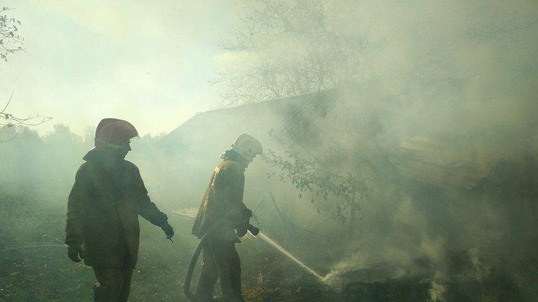 У Гадяцькому районі пожежники врятували господарську будівлю (фото)