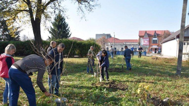 Пирятинська громада реалізує екологічний проєкт з озеленення міста