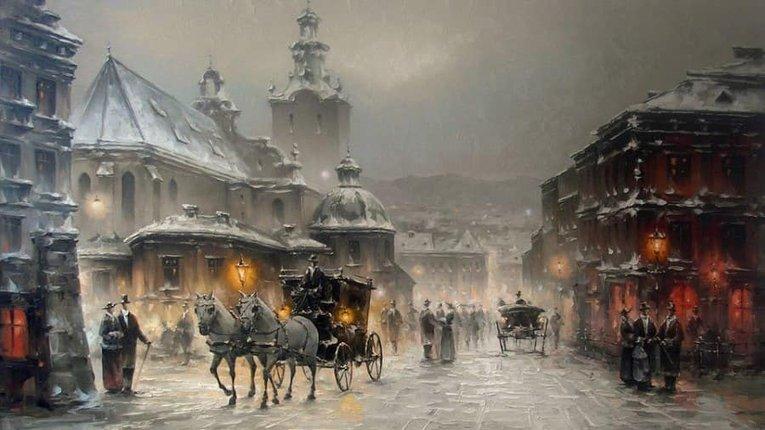Львівський художник малює чарівні картини без пензлика