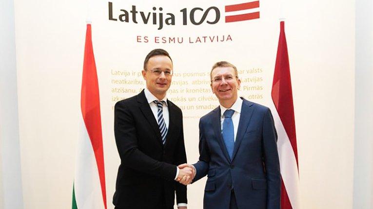 П. Сійярто і Е. Рінкевичс