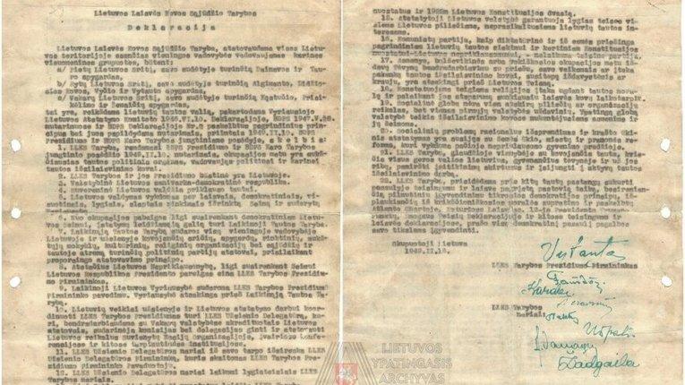 """Декларацію литовських """"лісових братів"""" виявлено в архіві Вільнюса"""