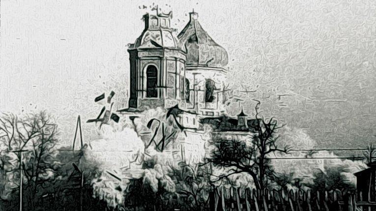 Історія одного фото. Церкву підірвали тільки з другої спроби