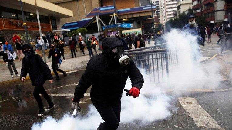У столиці Чилі не припиняються вуличні протести