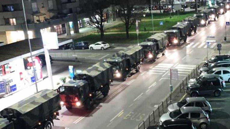 Через коронавірус на вулицях італійських міст побільшало військової техніки