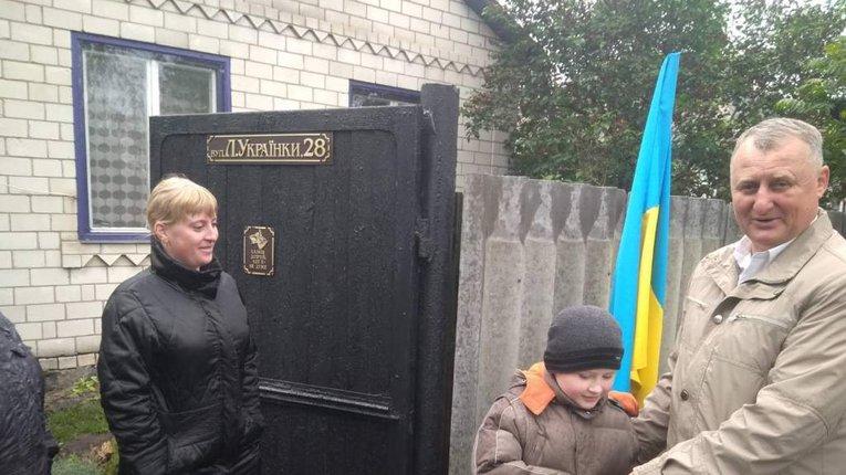 У Гребінці малеча полеглих захисників України отримала подарунки до Дня захисту дітей
