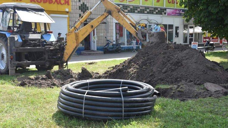 У Пирятині оновлюють міський водогін з метою уникнення аварій