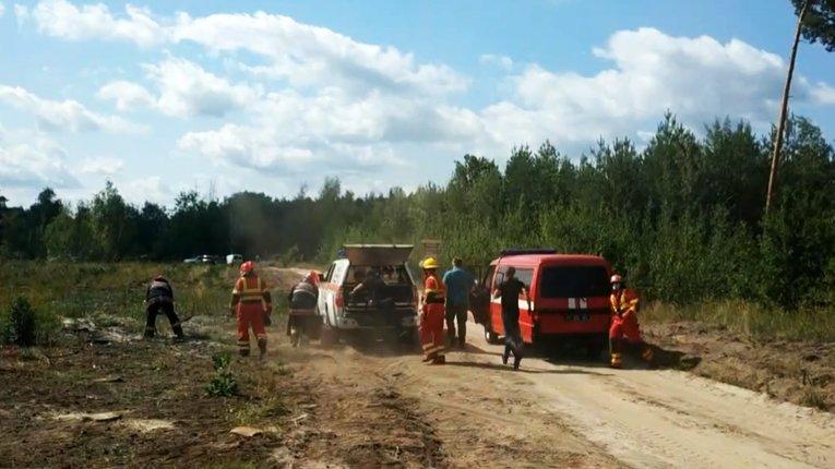 Вогнеборці з лісниками провели спільні навчання у Полтавському районі