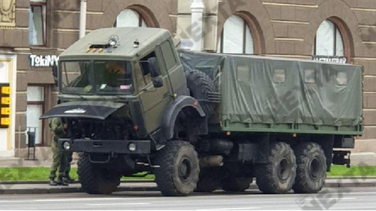 У Мінську напередодні«Маршу єдності»центр оточений силовиками та військовою технікою