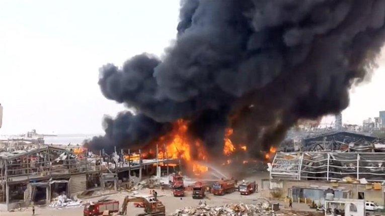 У Бейруті знову спалахнула пожежа в порту