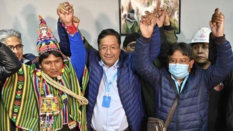 Новообраний болівійський президент (у центрі)