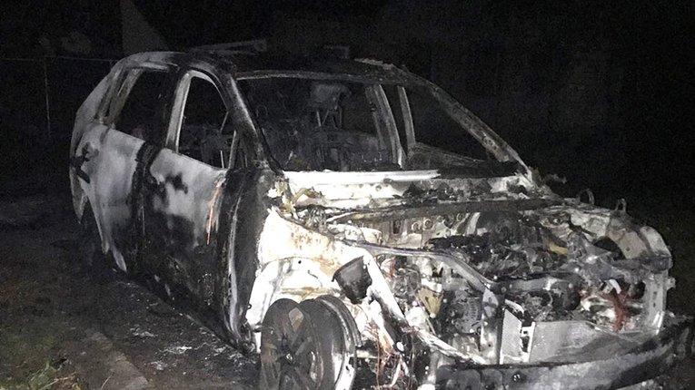 Спалена Toyota RAV4 на вул. Довженка
