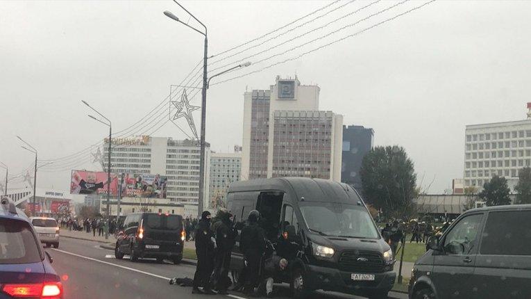У Мінську почалися затримання протестувальників